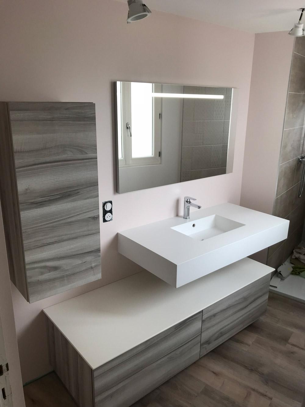 réalisation salle de bain meuble lavabo