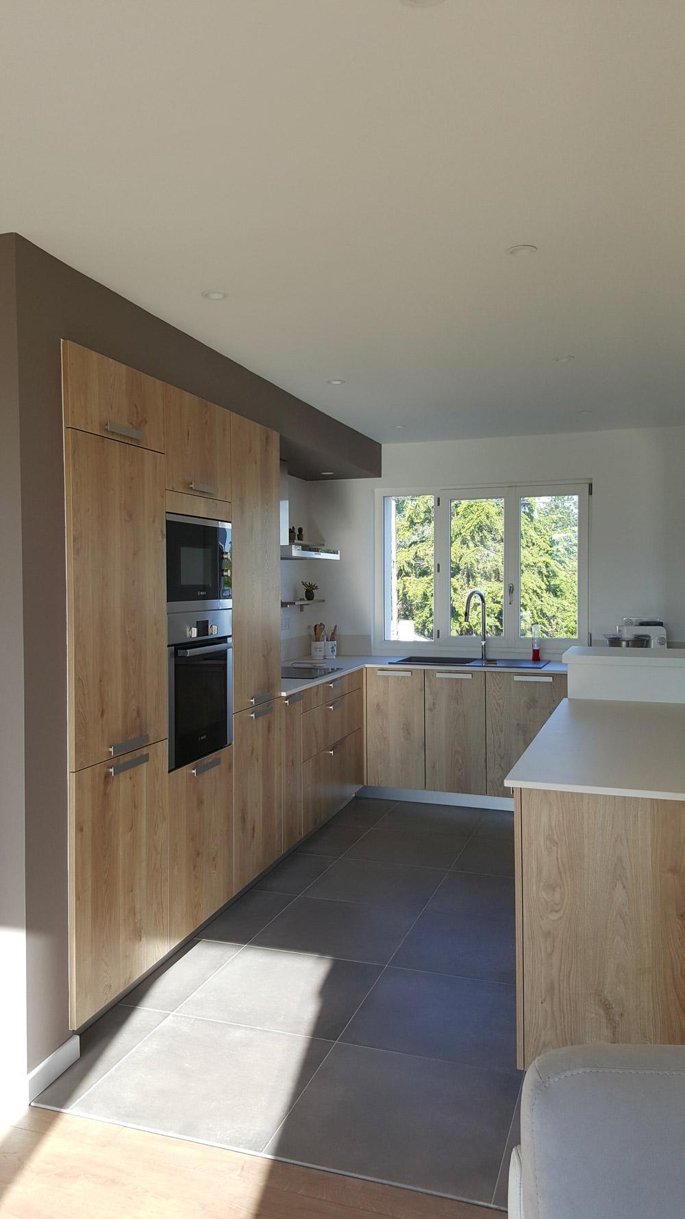 réalisation cuisine bois