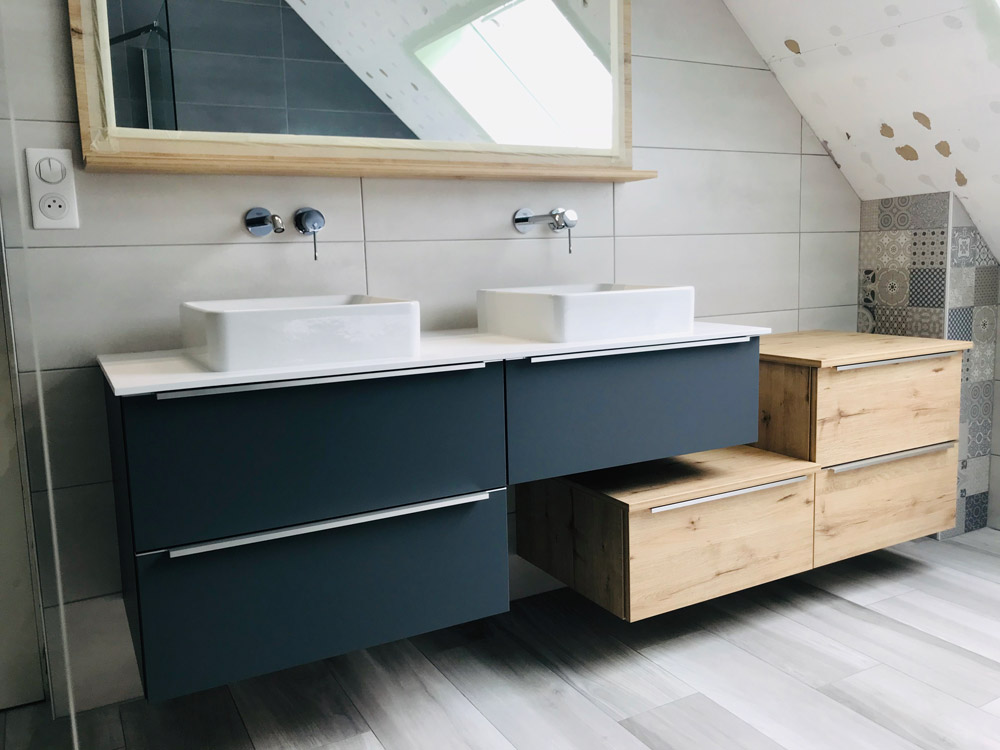 travaux salle de bain bois